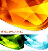 Abstract backdrops collection Stock Illustration
