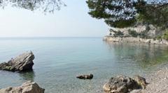 Cove of Castle Miramare entrance, Trieste Stock Footage
