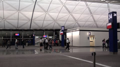 Airport indoor shot Stock Footage