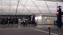 Airport indoor shot Stock Footage