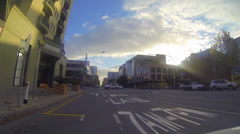 Special shot 3 minute sped up driving tour of downtown adelaide on a nice day Stock Footage