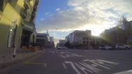 Stock Video Footage of special shot 3 minute sped up driving tour of downtown adelaide on a nice day