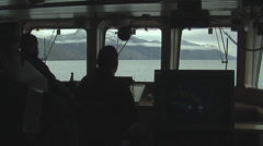 View of inside a scientific boat Stock Footage