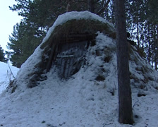 Bivouac in the snow Stock Footage
