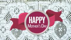 Happy Mother's Day card animated. Stock Footage