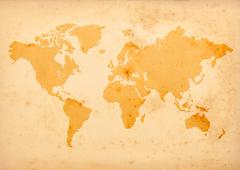 old world map - stock illustration