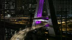 Stock Video Footage of Ponte estaiada