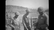 Soldiers being served meal Stock Footage