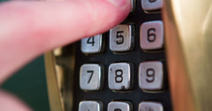 Entering numerical code to door close up 4k Stock Footage