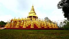 Pagoda in Wat-Sawangboon at Saraburi Stock Footage