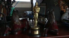 Oscar Statuette (the real thing -  not a replica) Stock Footage
