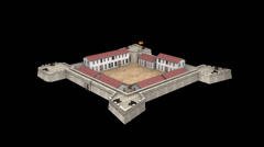 3D scale reconstruction of Fort San Salvador in Ho Ping Island, keelung, Taiwan Stock Footage