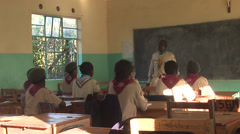Kenya college and teacher scout Stock Footage