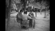 North Korean prisoner being interrogated by soldiers Stock Footage