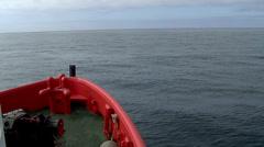 Ocean skyline shooting since a boat Stock Footage