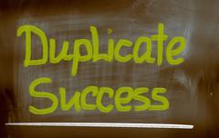 duplicate success concept - stock illustration