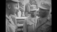 Chaplain speaking with the soldiers Stock Footage