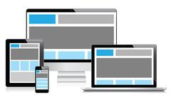 Täysin reagoiva web design elektronisten laitteiden vektori eps10 Piirros