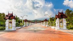 Road in thailand  royal flora expo Stock Photos
