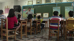 Chinese school Stock Footage