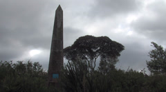 Obelisk from the tomb of Denys Finch Hatton who inspired the film Out of Africa Stock Footage