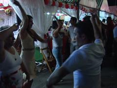 Dancing at the Velá Santana fair or Saint Anne's evenings Stock Footage
