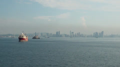 Landscape in Panama canal Stock Footage
