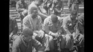 Military soldiers praying Stock Footage