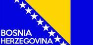 Flag of bosnia herzegovina Stock Illustration