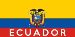 flag of ecuador - stock illustration