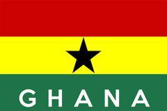 Stock Illustration of flag of ghana