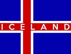 flag of iceland - stock illustration