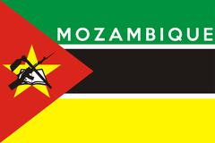 flag of mozambique - stock illustration