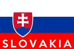 Flag of slovakia Stock Illustration