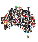 Stock Photo of Australia continent made of woman shoes