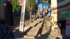 0620  Elevator Polanco Valparaíso Stock Footage