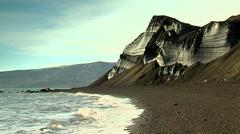 Glacier Red and Black Deception island Stock Footage