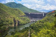 Hydro power electric dam in tak,thailand. Stock Photos