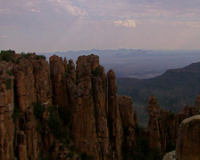 Long shot into the Valley of Desolation  Stock Footage