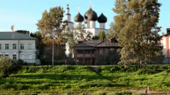 Russian Town Vologda Stock Footage