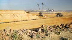 Giant Bucket Wheel Excavator Timelapse Stock Footage