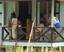 Indonesians village - stock footage