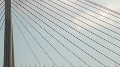 Zoom out from Kao Ping River Bridge Stock Footage