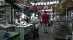 Cricket market in Yue-Zhou. Shanghai Stock Footage