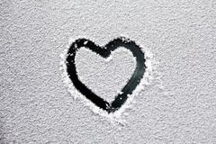 Heart in the snow Stock Photos