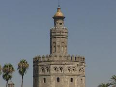 Torre del oro, The Golden Tower. Seville Spain Stock Footage
