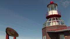 Lighthouse, cape horn (cabo de hornos) Stock Footage