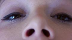 Surprised Eyes Stock Footage