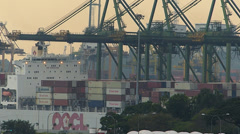 Time Lapse Port of Singapore Container harbor harbour Stock Footage
