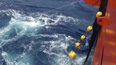 SMOS buoy floating on the ocean Stock Footage